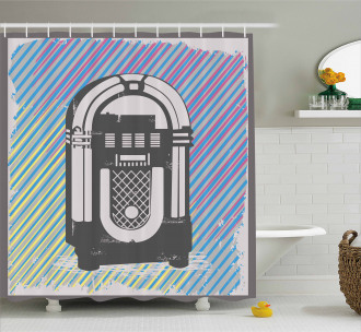 Vintage Music Box Party Shower Curtain