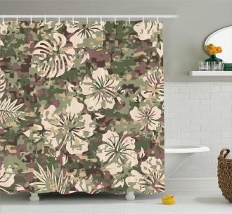 Aloha Tropical Jungle Shower Curtain