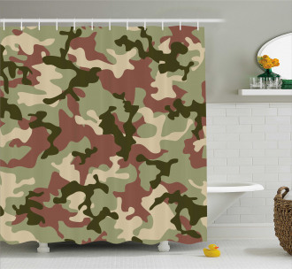 Pattern in Forest Colors Shower Curtain