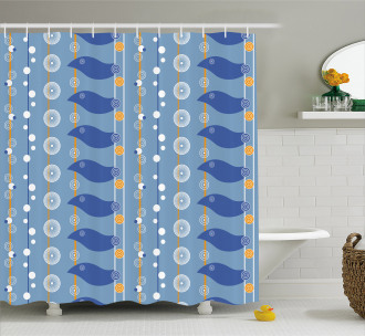 Abstract Sea Shower Curtain