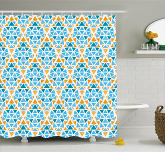 Triangle Motif Shower Curtain