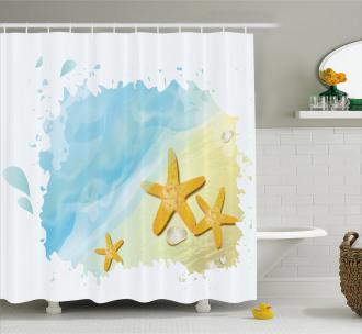 Artistic Beach Shower Curtain