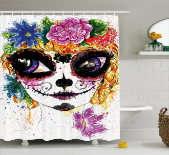 Mexican Make Up Shower Curtain