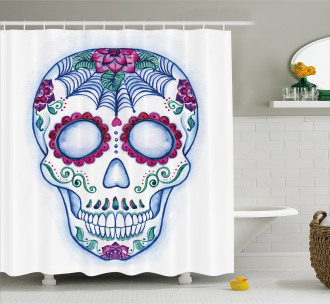 Colorful Doodle Shower Curtain