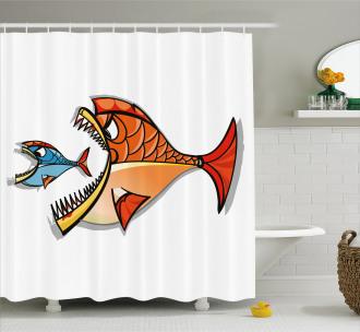 Pisces Zodiac Art Shower Curtain