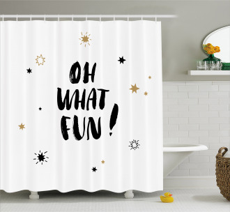 Oh What Fun Design Shower Curtain