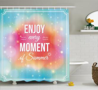 Enjoy Summer Art Shower Curtain