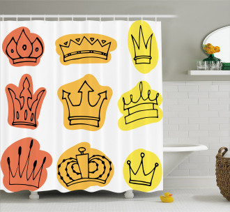Majestic Symbol Crowns Shower Curtain