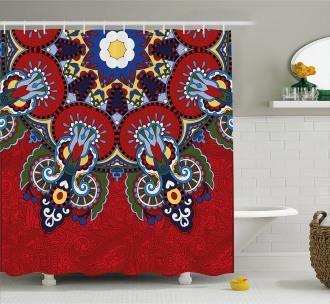 Ukranian Ethnic Shower Curtain