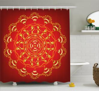Arabic Ornate Art Shower Curtain