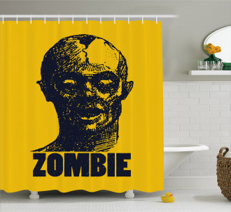 Dead Man Portrait Shower Curtain