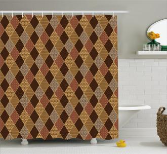 Classic Lozenge Pattern Shower Curtain