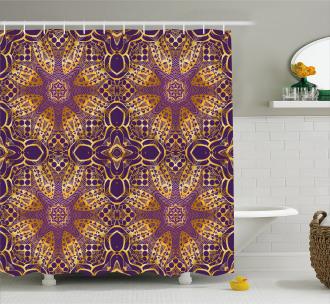 Boho Asian Motif Shower Curtain