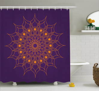 Mystic Sun Icon Shower Curtain