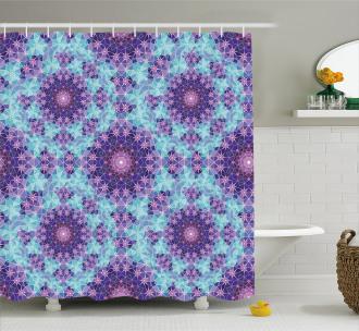 Mosaic Fractal Shower Curtain