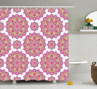 Purple Mandala Shower Curtain Lotus Essence Print For Bathroom