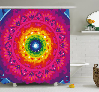 Rainbow Hippie Shower Curtain