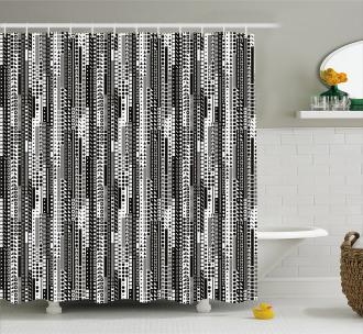 Geometrical Shower Curtain
