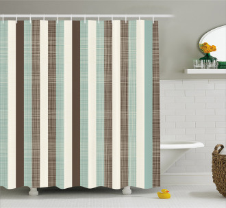 Striped Classical Old Shower Curtain