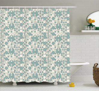 Soft Abstract Circles Shower Curtain