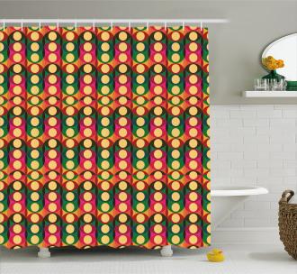 Pop Art Geometric Pastel Shower Curtain