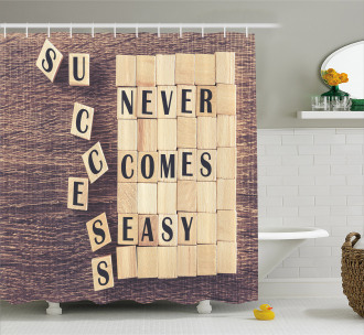Quote Scribble Shower Curtain