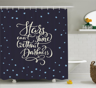 Night Sky Quote Shower Curtain
