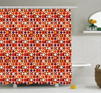 Moon Inspired Abstract Shower Curtain