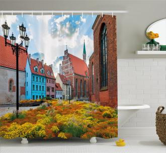 Old City Riga Latvia Shower Curtain