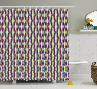 Abstract Ethnic Geometric Shower Curtain