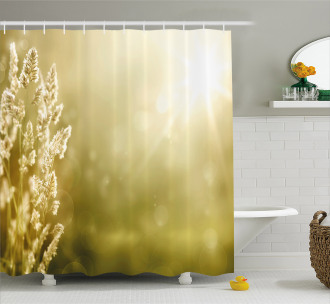 Scenic Autumn Meadow Shower Curtain