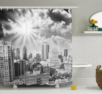 Aerial Montreal Shower Curtain
