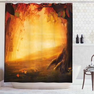 Mysterious Valley Forest Shower Curtain