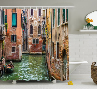 Famous Streets on Water Shower Curtain