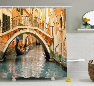 Ancient Bridge Gondola Shower Curtain