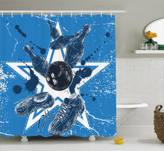 Stars Colors Pins Shower Curtain