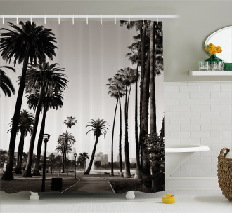 Los Angles Park View Shower Curtain