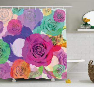 Floral Arrangement Roses Shower Curtain