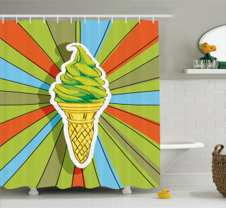 Ice Cream on a Cone Shower Curtain