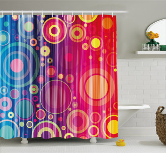 Psychedelic Modern Art Shower Curtain