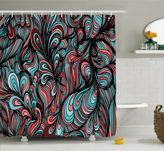 Shapes with Dim Colors Shower Curtain