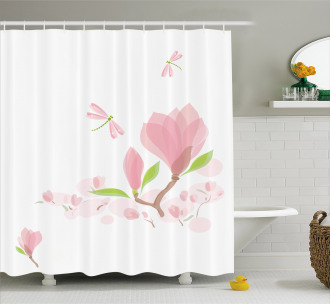 Soft Magnolia Leaves Shower Curtain