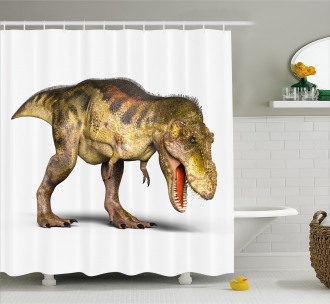 Prehistoric Animal Shower Curtain