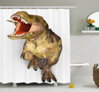 Roaring Vivid T-Rex Shower Curtain