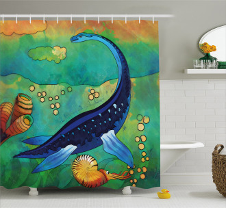 Ancient Sea Creature Shower Curtain