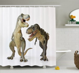 T-Rex Pair Predators Shower Curtain