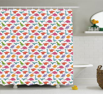 Colorful Kids Pattern Shower Curtain