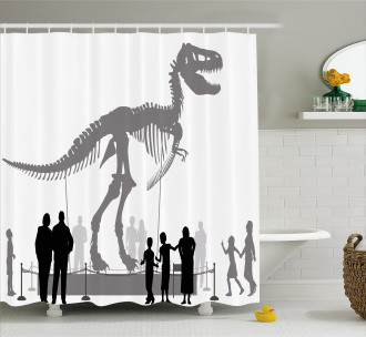 People Look at T-Rex Shower Curtain
