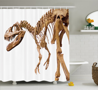 Archeology Theme T-Rex Shower Curtain