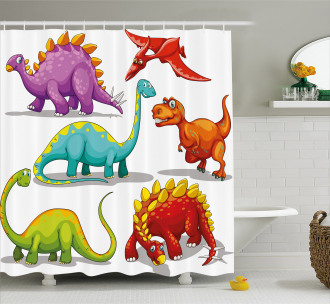 Friendly Fun Wildlife Shower Curtain